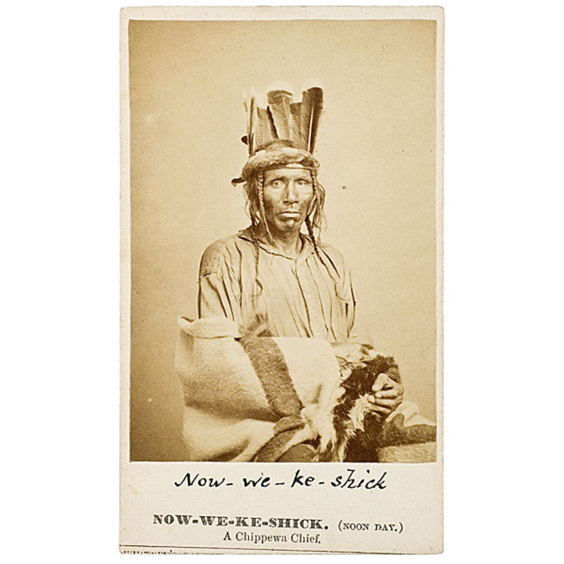 Fine Joel E. Whitney CDV of Now-we-ke-shick (Noon Day), Chippewa,