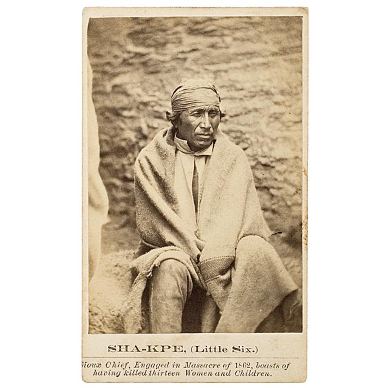 Joel Whitney CDV Sha-kpe (Little Six), Mdewakanton Dakota,