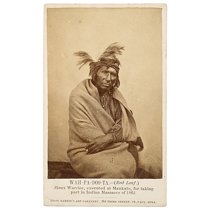 CDV of Wah-pa-doo-ta (Red Leaf), Sioux,