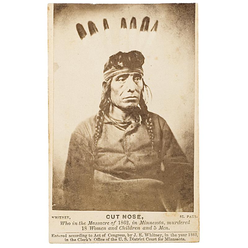 Joel Whitney CDV of Cut Nose, Dakota,