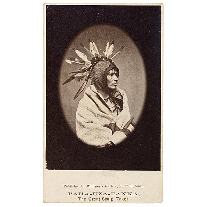 Joel Whitney CDV of Pa-ha-uza-tanka (The Great Scalp Taker), Dakota,