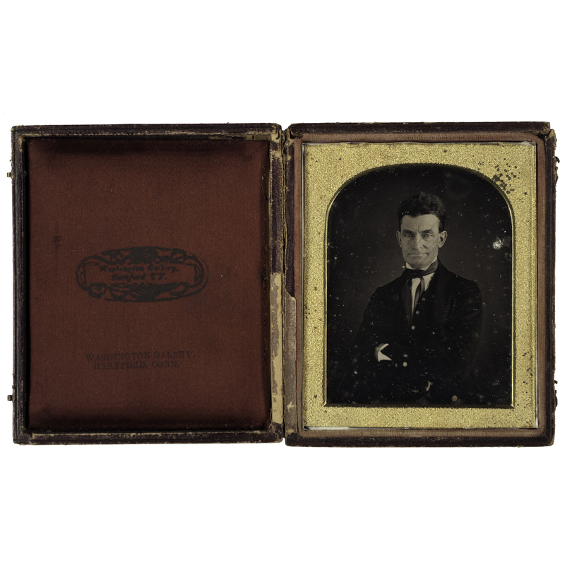 Important Long-Lost  Quarter Plate Daguerreotype of John Brown, the Abolitionist, by the African American Daguerreotype Artist, August Washington