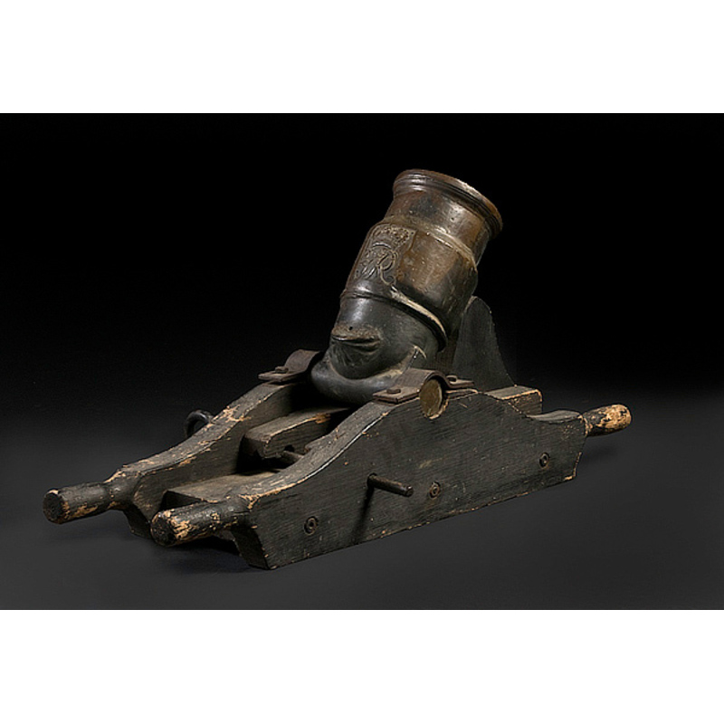 """8"""" Mortar Cannon with King George II Royal Cypher,"""