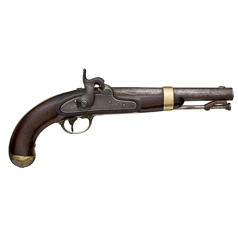 H.  Aston Model 1842 Percussion Pistol,