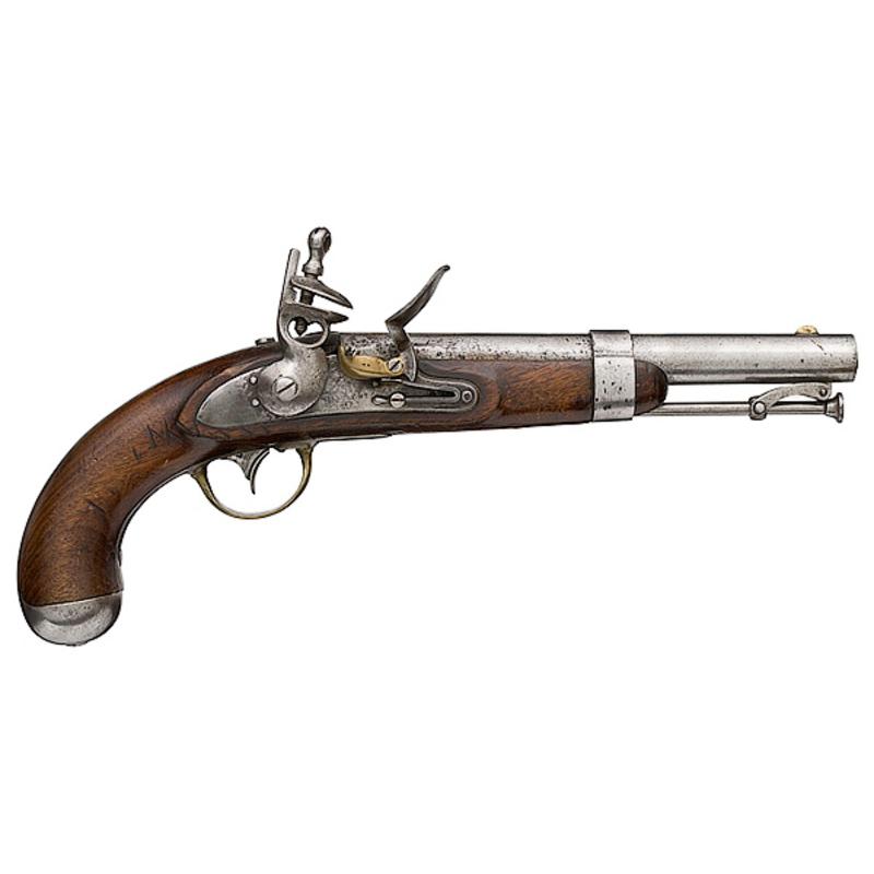 Model 1836 Flintlock Pistol by Asa Waters,