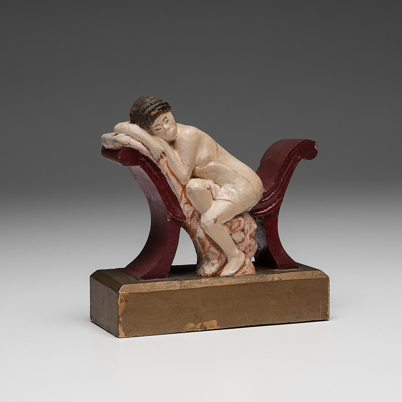 Folk Art Carving of a Nude Woman