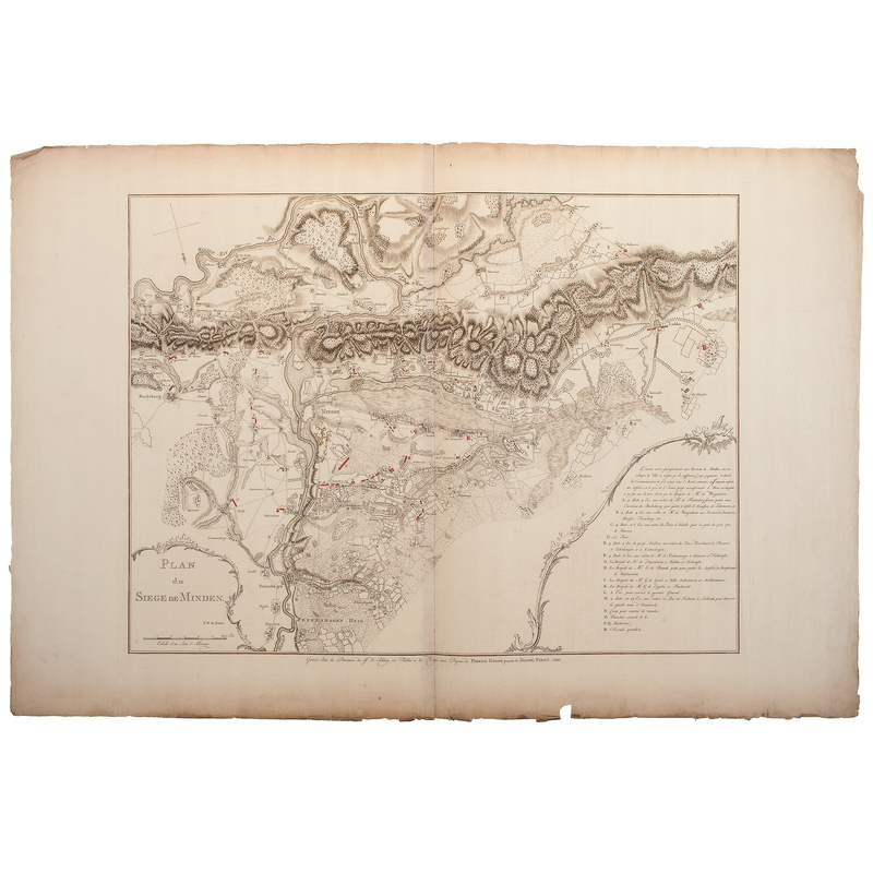 plan of the siege of minden cowan 39 s auction house the midwest 39 s most trusted auction house. Black Bedroom Furniture Sets. Home Design Ideas