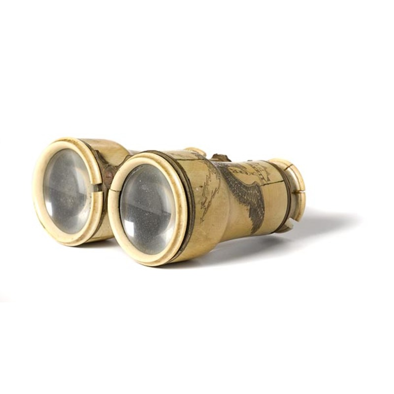 Engraved Civil War Ivory and Brass Field Glasses of Capt. D.A. Taft,