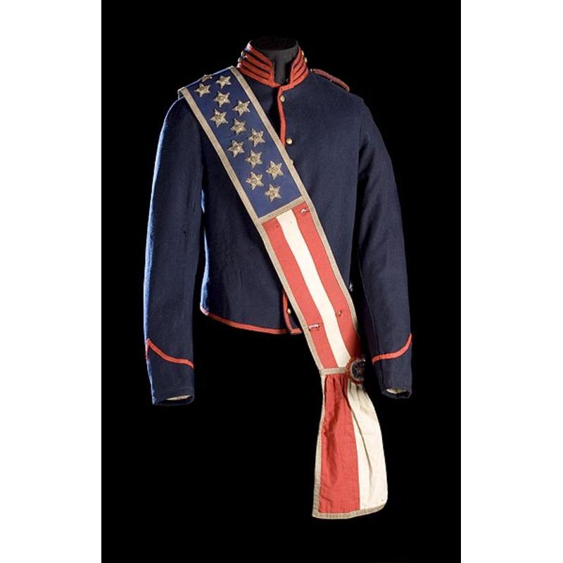 Civil War Era  Shell Jacket, GAR Shoulder Straps and Sash,