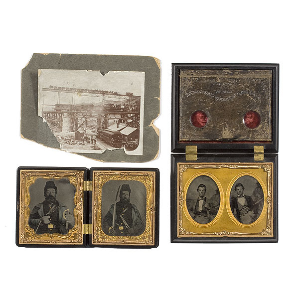 Sixth Plate Ambrotypes of David and Philip Speidel,  2nd Illinois Cavalry,