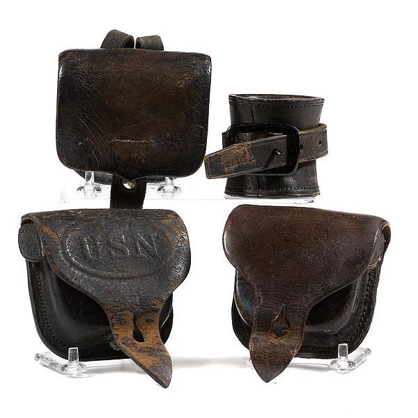 Lot of Four Civil War Cap Boxes,
