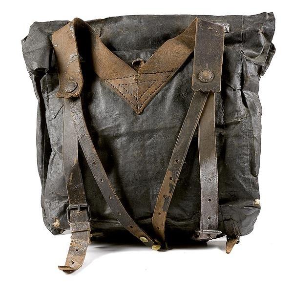 Black Glazed Cotton Backpack,