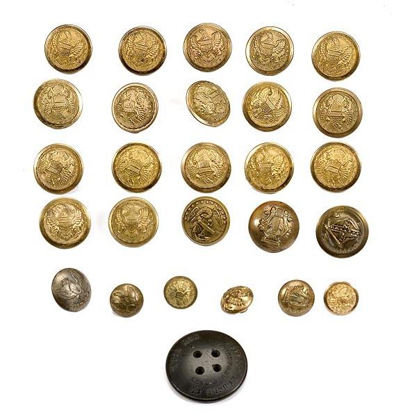 Lot of Brass Buttons,