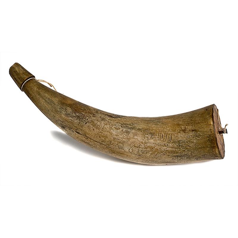 Primitive Horn Dated 1818,