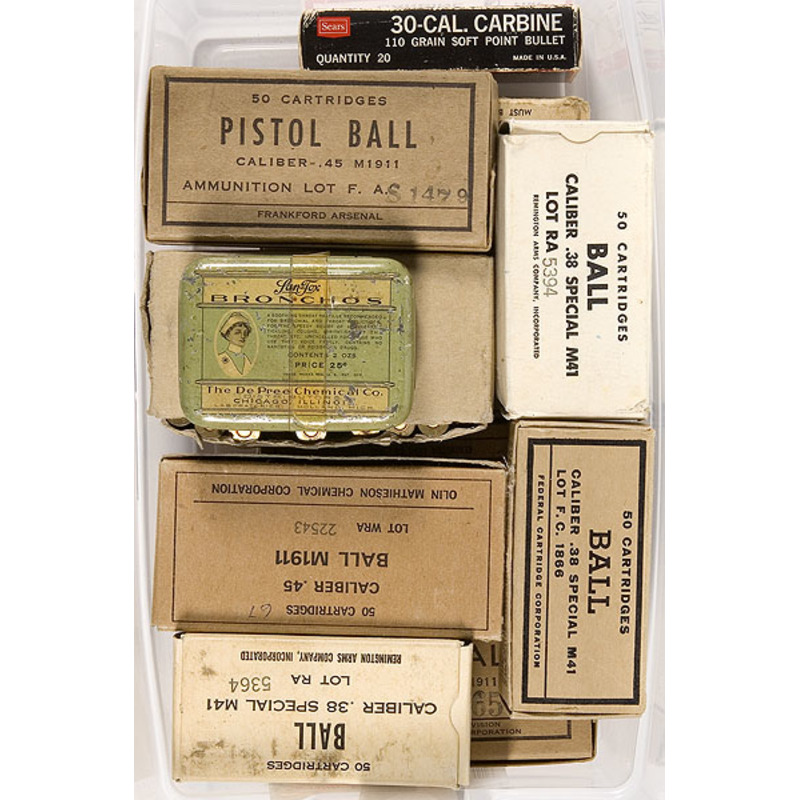 Lot of Military Cartridge Boxes,