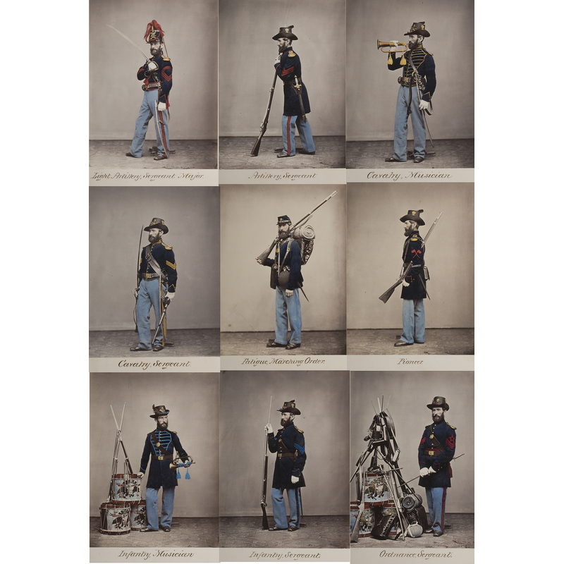Important Two Volumes of Photographs of Uniforms of Enlisted Men of the U.S. Army
