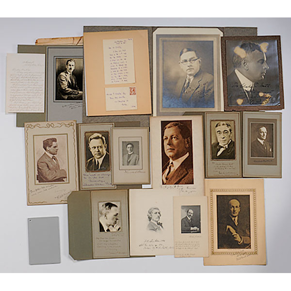 Fifteen Autographed Photos & Letters of American Male Authors, Scholars...