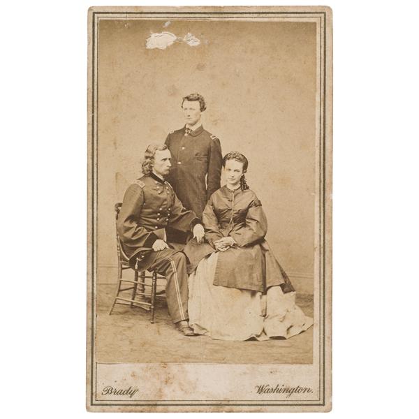 CDV of Major General Custer and Family,