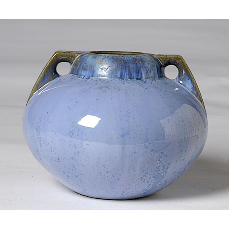 Fulper Blue Flambe Squat Vase Cowans Auction House The