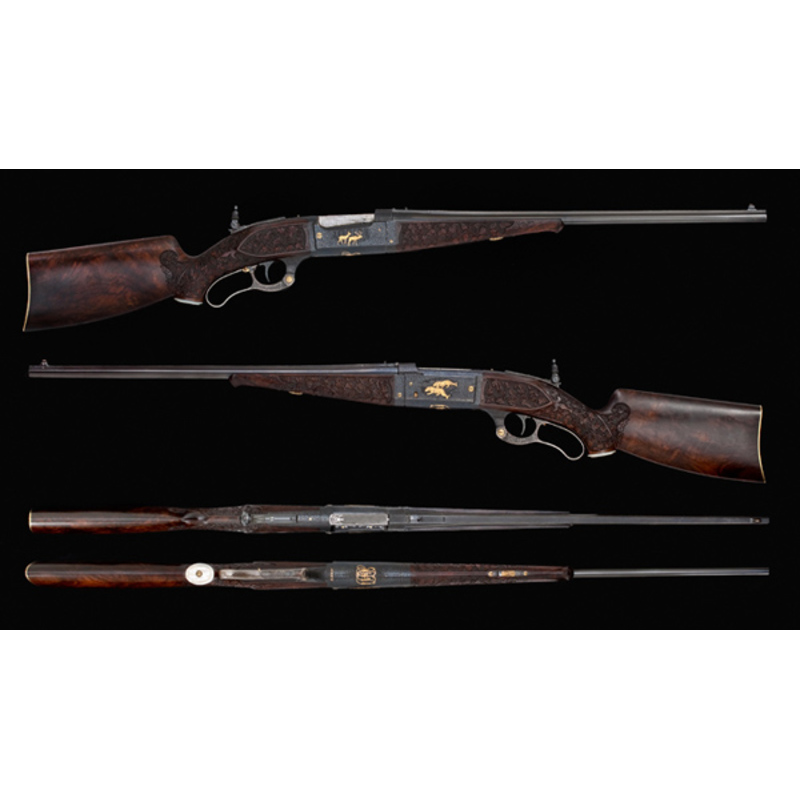 * Raised Gold Inlaid Savage Model 1899 Takedown Rifle Made for John F. Dodge,