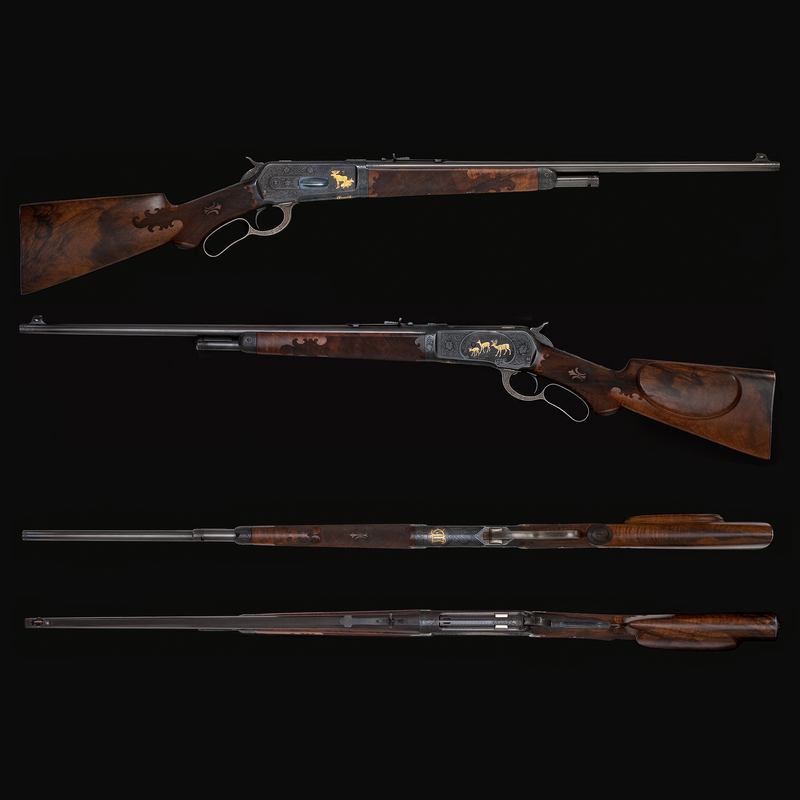 * Superb Engraved and Gold Inlaid Winchester Model 1886 Takedown Rifle in Unfired Condition Made for John F. Dodge,