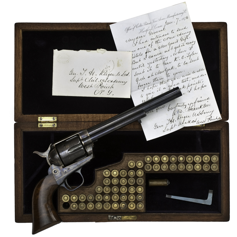 Colt Single-Action Army Revolver Presented to General Thomas H. Ruger as Superintendent of West Point,