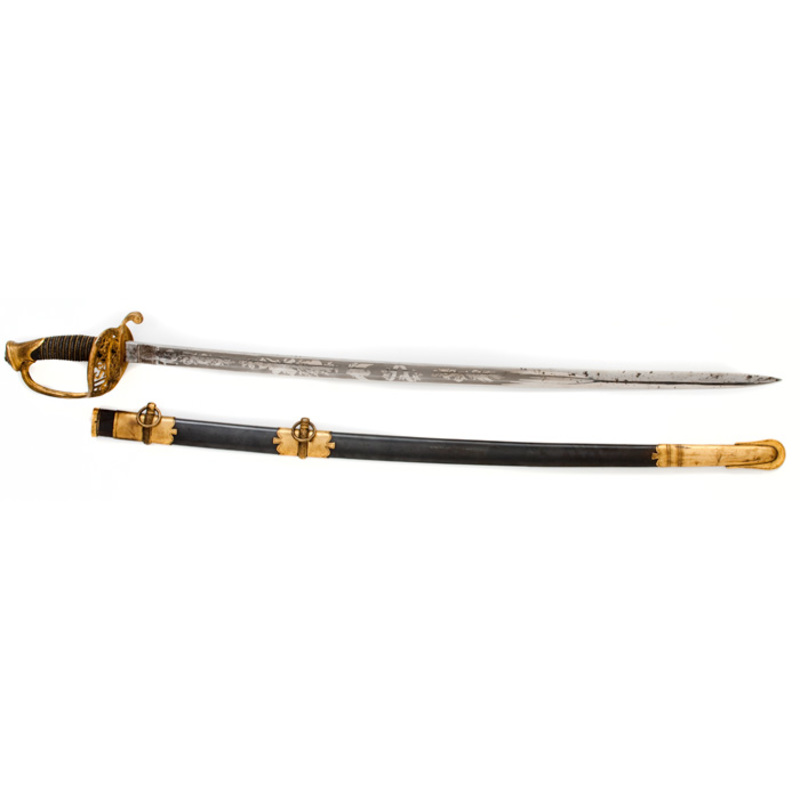 Civil War Model 1850 Staff and Field Officer's Sword, Belonging to Colonel Thomas H. Ruger, 3rd Wisconsin,