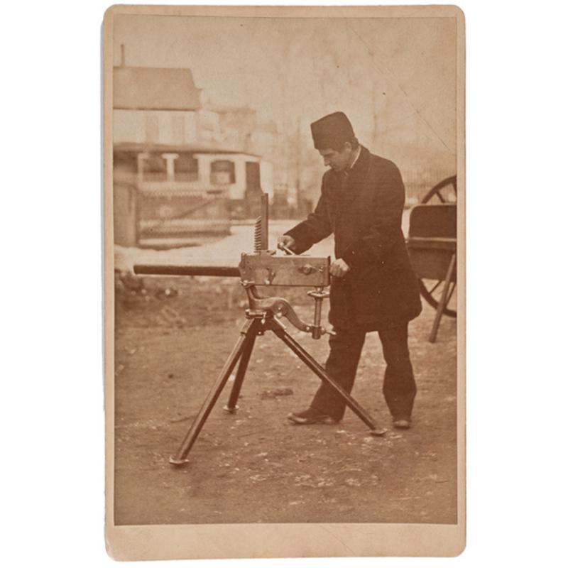Four Photographs from the Gardner Gun Trials,