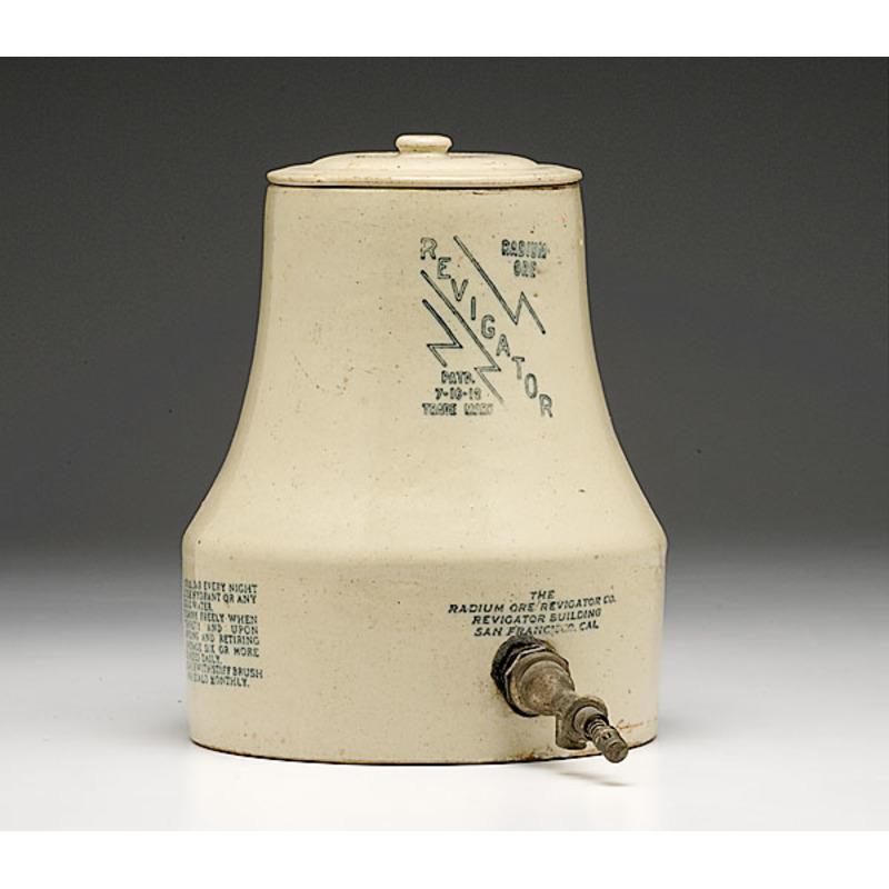 Radium Ore Revigator Stoneware Water Cooler,