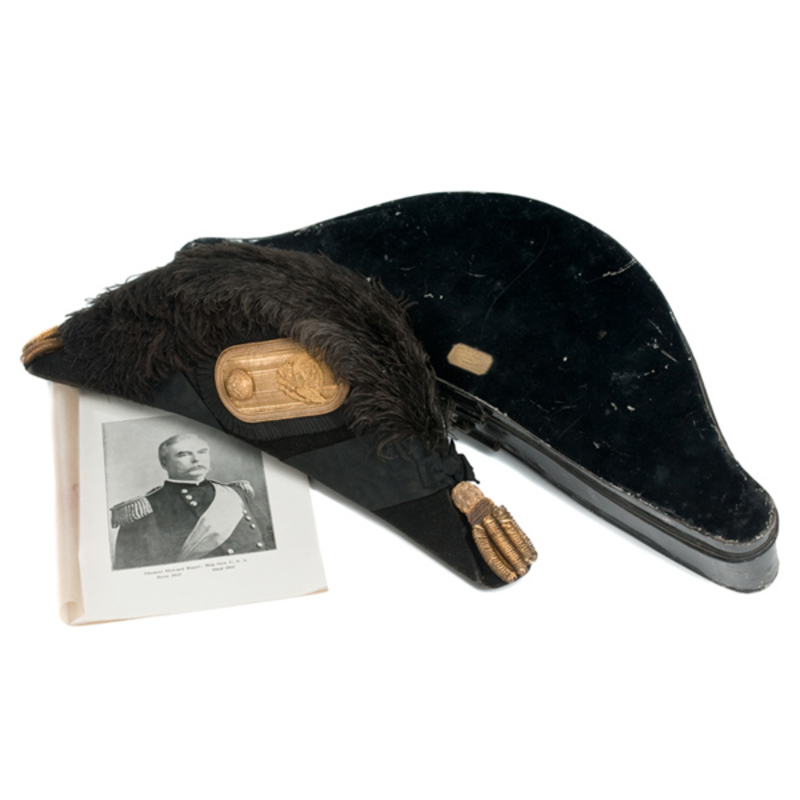 Major General Thomas H. Ruger's Model 1872 Officer's Chapeau in Original Tin,