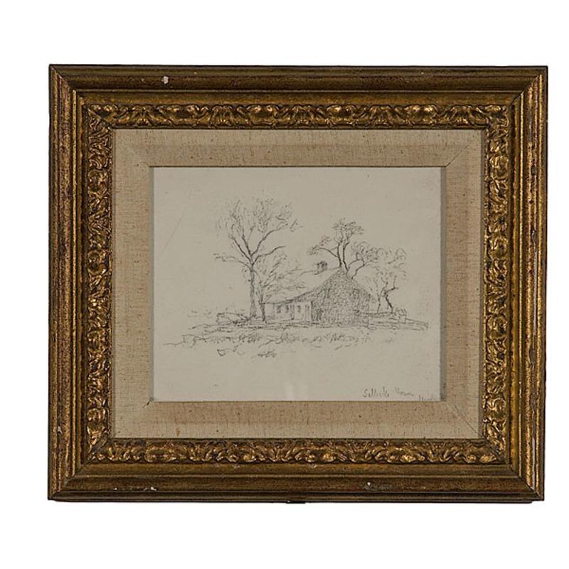 Landscape by John Frederick Kensett, Pencil Drawing on Paper