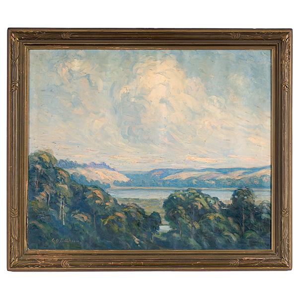 Landscape by Carl O. Erickson, Oil on Canvas