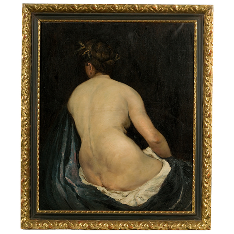 Nude Attributed to Frank Duveneck, Oil on Canvas