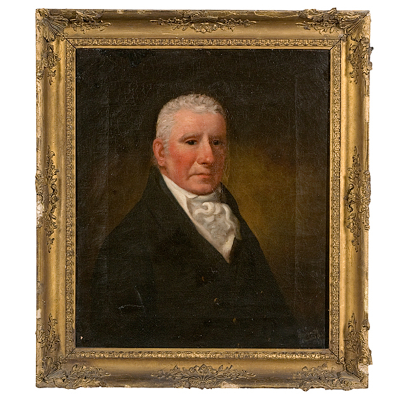 Portrait of Prominent Cleveland Citizen by Allen Smith, Oil on Canvas