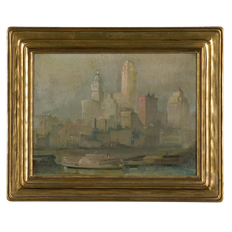 Downtown Cincinnati, Oil on Canvas