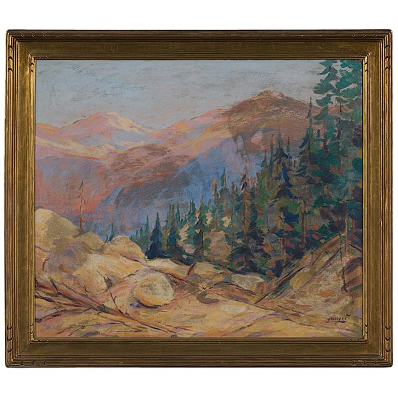 Landscape by Herbert Nelson Hooven, Oil on Board