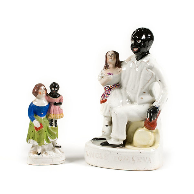 Pair of Staffordshire Uncle Tom Figurines