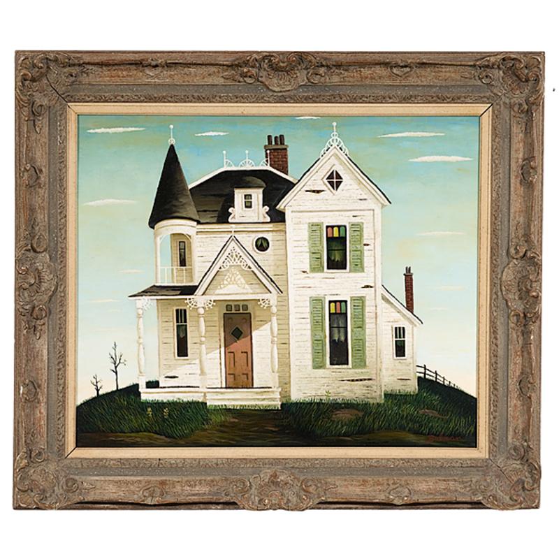 Victorian House by Orville Bulman, Oil on Canvas