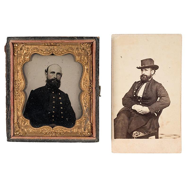 Two Images of Bvt. Lt. Col. James M. Richardson, 3rd Mass. HA