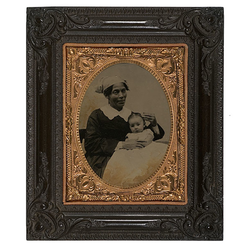 Civil War-Era Tintype of African-American Nanny and Charge
