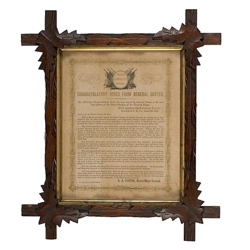 Scarce Custer Civil War Congratulatory Handbill