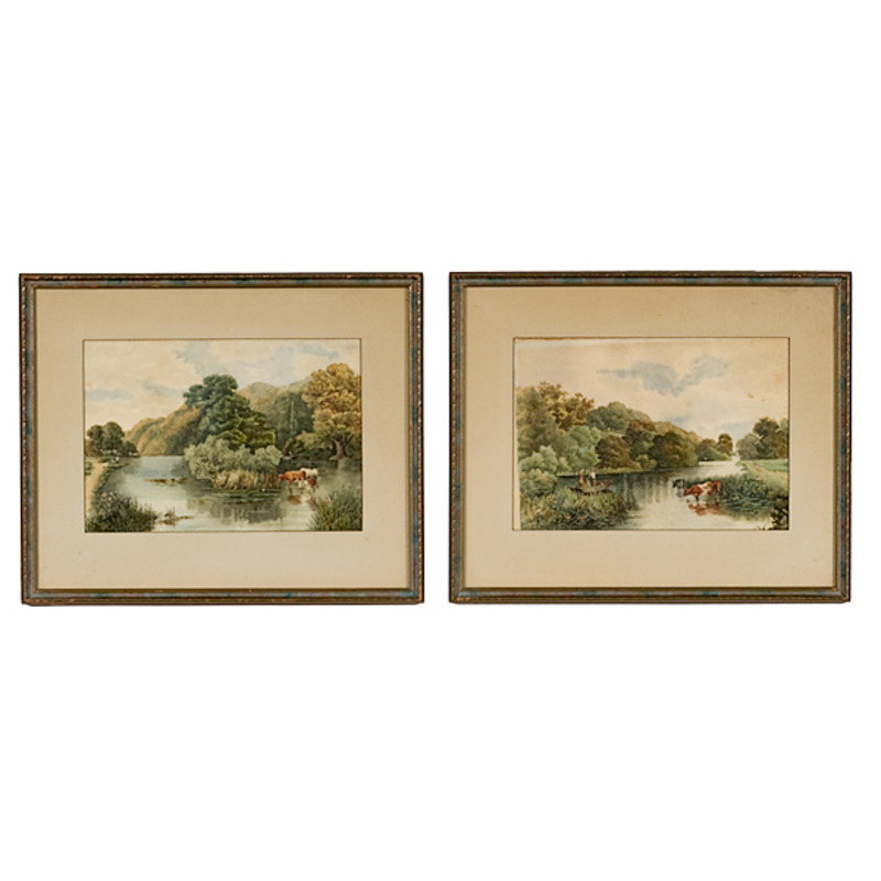 Minnesota Scenes by L. Wright, Watercolor on Paper