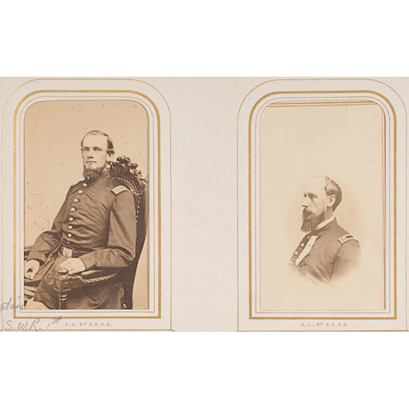 Two Family CDV Albums of Capt. Spencer Richardson, 44th Mass.