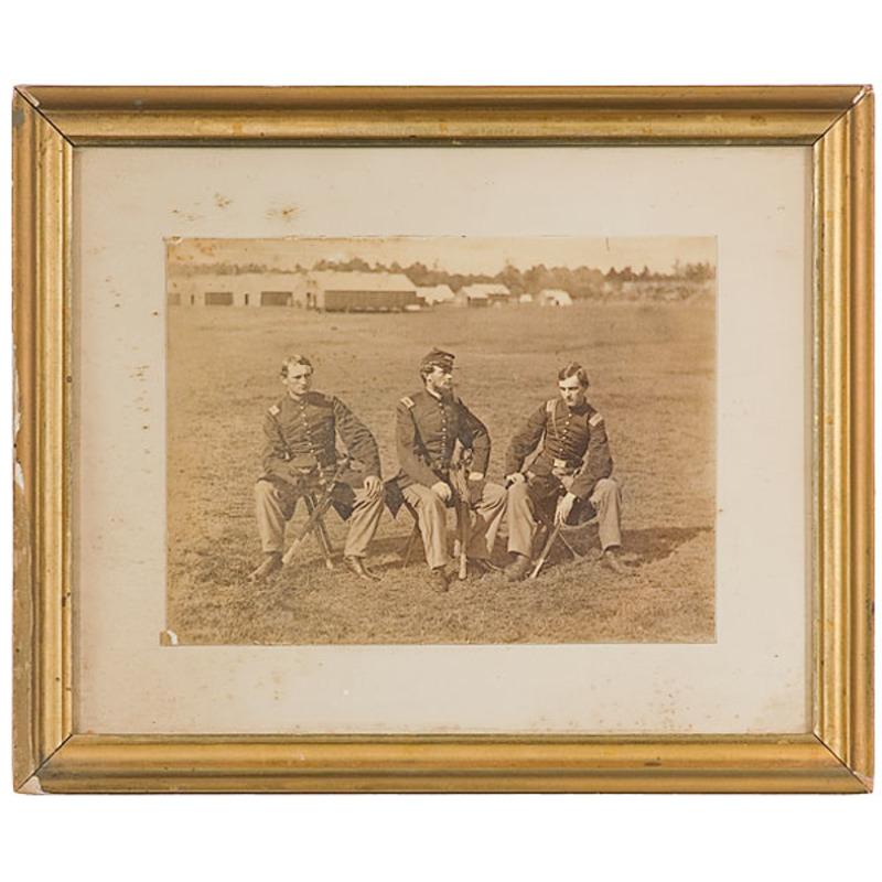 Outdoor Albumen of  Capt. S. W. Richardson & Lieutenants