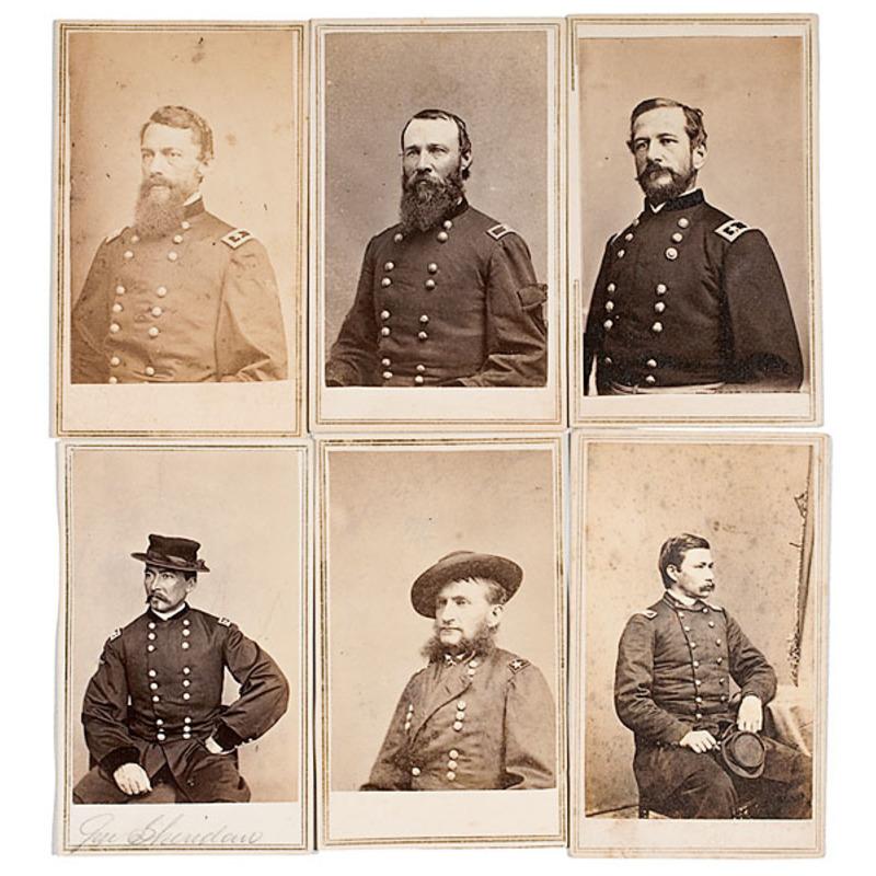 Lot of Sixteen CDV's of Union Generals