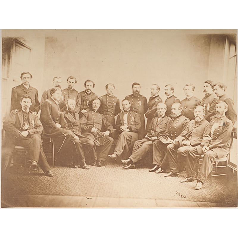 Photograph of General Sherman and His Staff