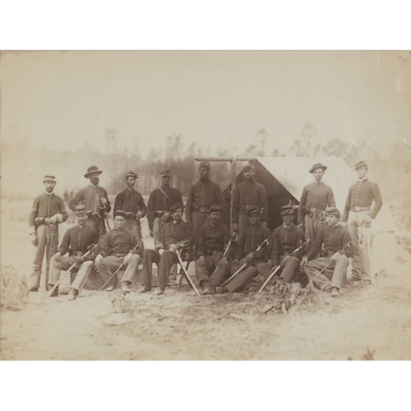 Outdoor Albumen of 3rd Indiana Cavalry Group