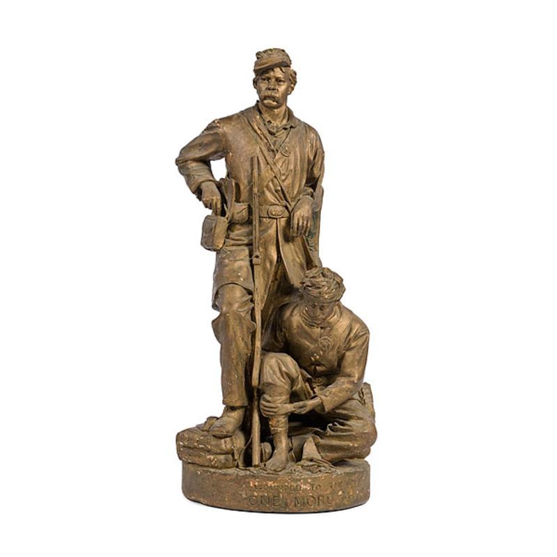 Figural Sculpture, John Rogers, Painted Plaster Cast