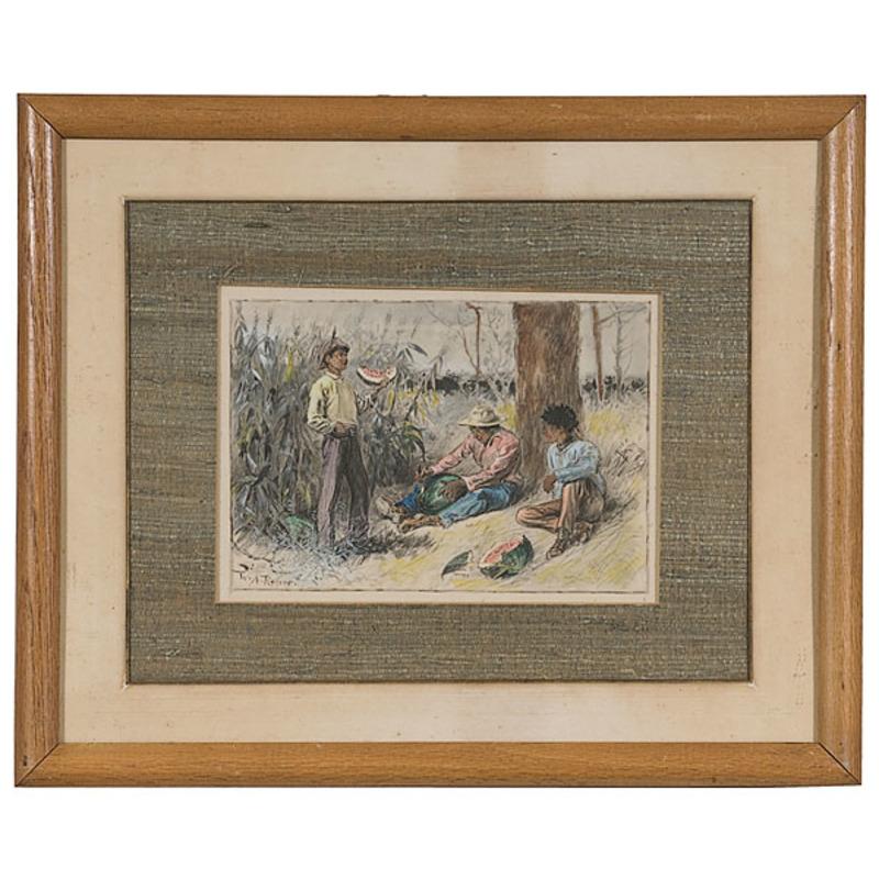 Genre Scene, William Allen Rogers, Watercolor and Ink on Paper