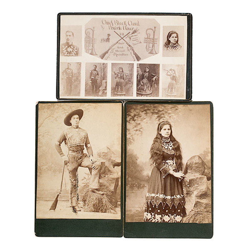 Sharpshooting Duo Chief Black Cloud and Prairie Flower Cabinet Cards